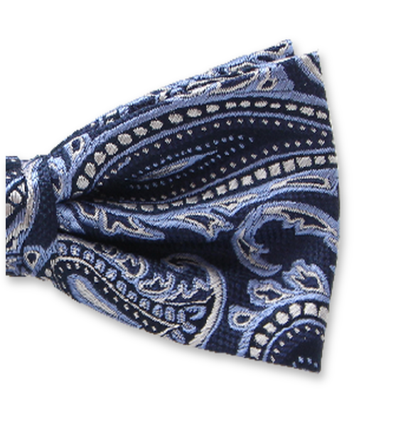 Fliege Michaelis | Blauer Paisley
